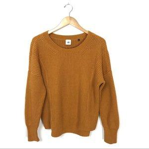 Cabi Stepup Sweater Mustard Yellow Knit Small B7